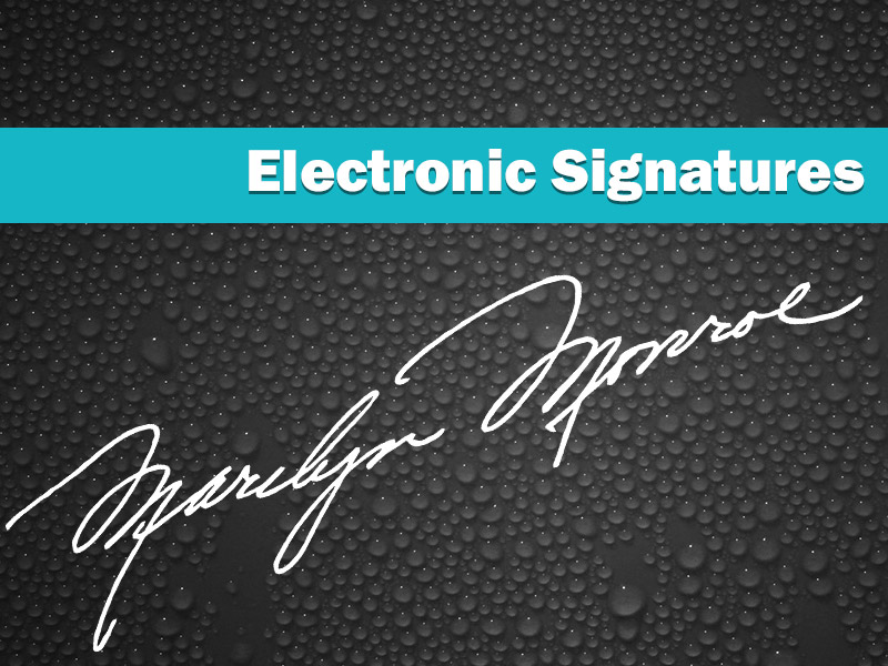 Integrated Electronic Signature Capture